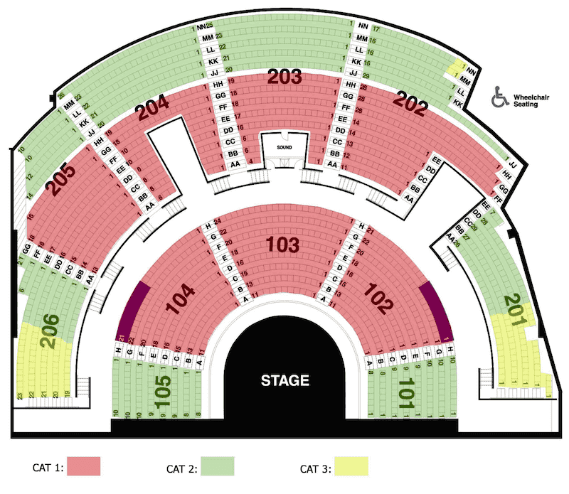 Mystere-Seating Chart